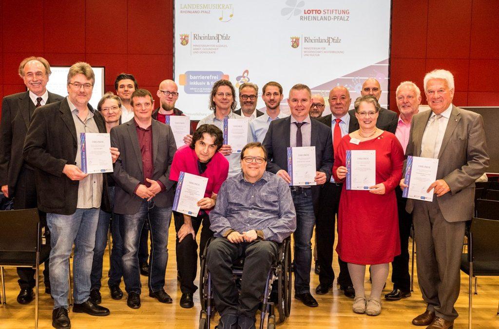 Inklusionspreis Musik erstmals vom Landesmusikrat Rheinland-Pfalz vergeben